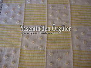 Model 017 - Sarı Beyaz Papatyalı Battaniye